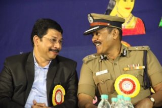 Vitto Placka With Additional Commissioner of Police Thiru PERIAIAH