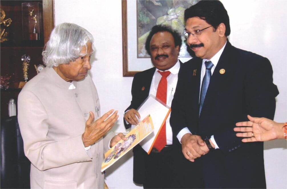 Vitto Placka with Ex-President Abdul kalam Sir